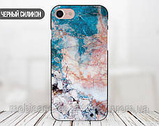 Силиконовый чехол для Apple Iphone 8 plus (Морской мрамор), фото 3