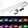 """RGB підсвічування днища """"Colored car chassis lamp"""" / пульт + music sound cont (к-кт 4шт) 2х90см, 2х120см, фото 2"""