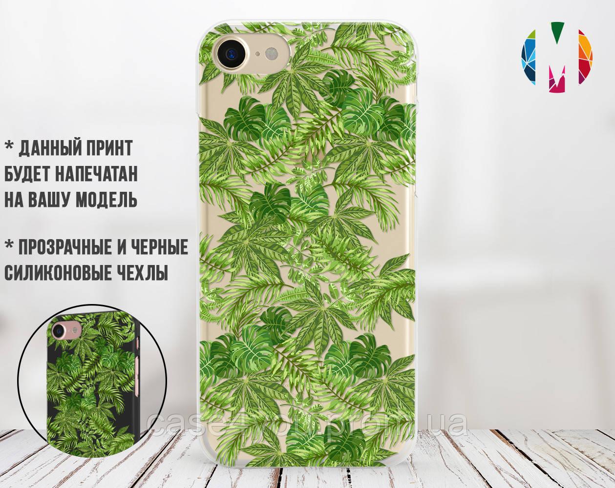 Силиконовый чехол для Apple Iphone 8 plus (Банановые листья)
