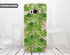 Силиконовый чехол для Apple Iphone 8 plus (Банановые листья), фото 3
