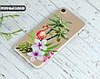 Силиконовый чехол для Apple Iphone 8 plus (Фламинго в цветах), фото 3