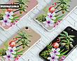 Силиконовый чехол для Apple Iphone 8 plus (Фламинго в цветах), фото 4