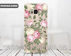 Силиконовый чехол для Apple Iphone 8 plus (Кремовые розы), фото 3