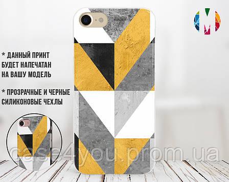 Силиконовый чехол для Apple Iphone XR (Желтый абстракт), фото 2