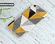 Силиконовый чехол для Apple Iphone XR (Желтый абстракт), фото 6