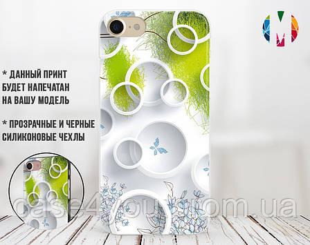 Силиконовый чехол для Apple Iphone XR (Белые круги), фото 2