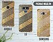 Силиконовый чехол для Apple Iphone XS (Золотые полоски), фото 4