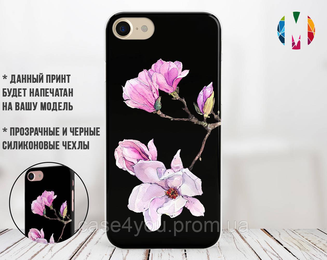 Силиконовый чехол для Apple Iphone XS (Райский цветок)