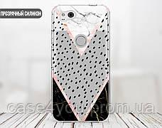 Силиконовый чехол для Apple Iphone XS Max (Разные треугольники), фото 2