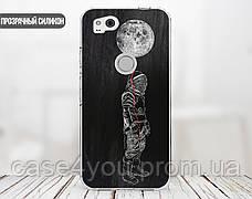Силиконовый чехол для Apple Iphone XS Max (Космонавт на луне), фото 2