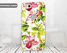 Силиконовый чехол для Apple Iphone XS Max (Восточные цветы), фото 2