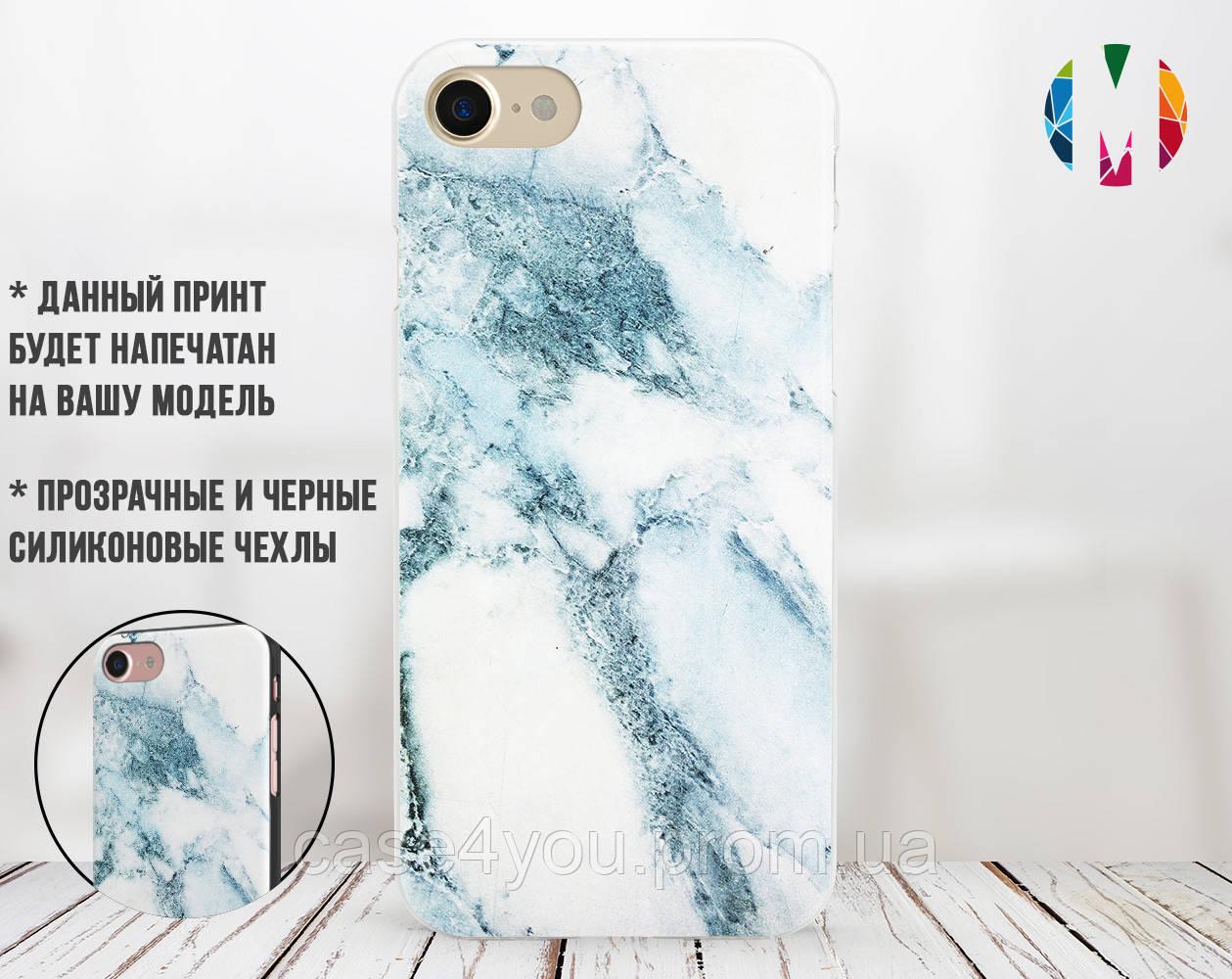 Силиконовый чехол для Apple Iphone XS Max (Снежный мрамор)