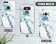 Силиконовый чехол для Apple Iphone XS Max (Снежный мрамор), фото 4