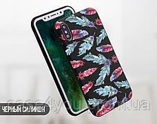 Силиконовый чехол для Apple Iphone XS Max (Перья), фото 2