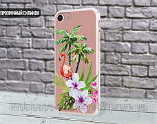 Силиконовый чехол для Apple Iphone XS Max (Фламинго в цветах), фото 2
