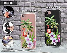 Силиконовый чехол для Apple Iphone XS Max (Фламинго в цветах), фото 3