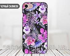 Силиконовый чехол для Apple Iphone XS Max (Фиолетовые цветы), фото 3