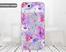 Силиконовый чехол для Apple Iphone XS Max (Фиолетовые цветы), фото 2