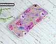 Силиконовый чехол для Apple Iphone XS Max (Фиолетовые цветы), фото 4