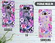 Силиконовый чехол для Apple Iphone XS Max (Фиолетовые цветы), фото 5