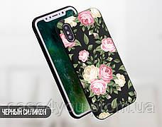 Силиконовый чехол для Apple Iphone XS Max (Кремовые розы), фото 2