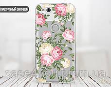 Силиконовый чехол для Apple Iphone XS Max (Кремовые розы), фото 3