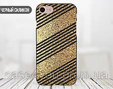 Силиконовый чехол для Apple Iphone XS Max (Золотые полоски), фото 2