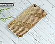 Силиконовый чехол для Apple Iphone XS Max (Золотые полоски), фото 3