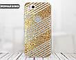 Силиконовый чехол для Apple Iphone XS Max (Золотые полоски), фото 6