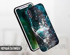Силиконовый чехол для Apple Iphone XS Max (Галактика), фото 2