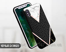 Силиконовый чехол для Huawei Honor 6A (Разные треугольники), фото 2