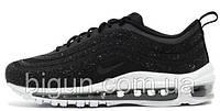 Женские кроссовки Nike Air Max 97 x Swarovski Black (найк аир макс 97 х сваровски, черные)