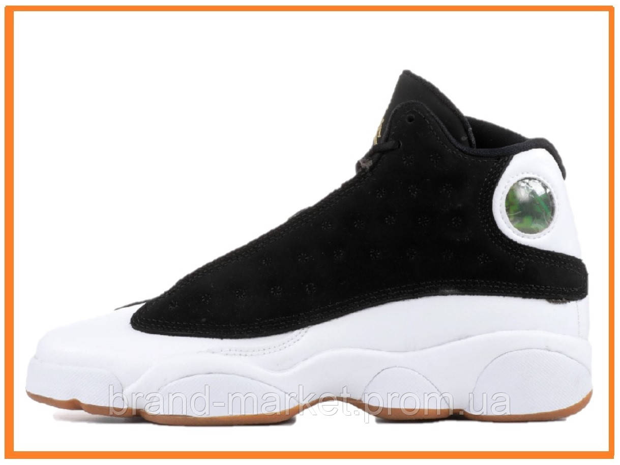 e3314e30 Мужские кроссовки Nike Air Jordan 13 Retro GG Black / White Cat (найк аир  джордан
