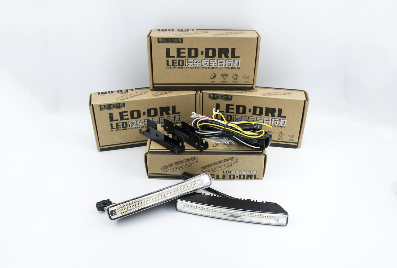 Дневные ходовые огни с бегущим повторителем поворота LED DRL Automobile safety of DRL (Белый/Синий ДХО+Желтый Бегущий поворот)