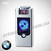USB зажигалка BMW Double ARC Silver (Электроимпульсная/2 дуги)