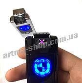 USB зажигалка BMW Double ARC Чёрный глянец (Электроимпульсная/2 дуги)