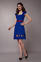 Платье электрик с квадратным вырезом