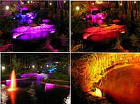 Подсветка фонтанов (бассейнов, водоемов). LED освещение. LED светильник. Светодиодное освещение.