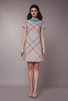 Платье летнее с бирюзовым воротником