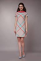 Платье летнее с розовым воротником