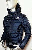 Мужская спортивная утепленная куртка со съемными рукавами и капюшоном under armour (копия) VO