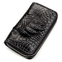 Кошелек-клатч CROCODILE LEATHER 18174 из натуральной кожи крокодила Черный, Черный