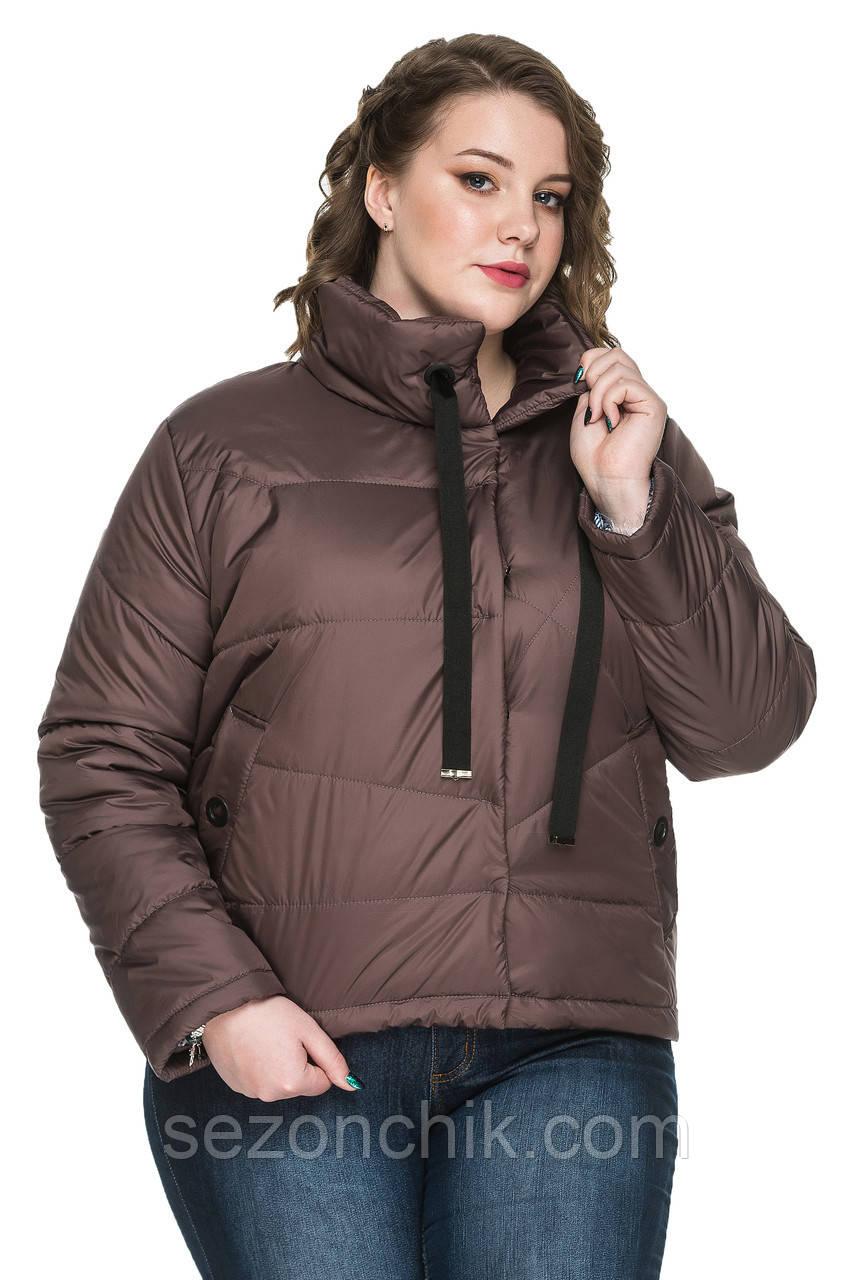 Женские весенние короткие куртки большие размеры