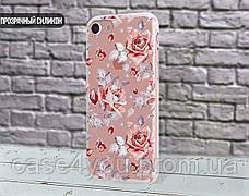 Силиконовый чехол для Meizu M6t (Розовые розы), фото 2