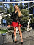 Черная кожаная косуха Турция, фото 5