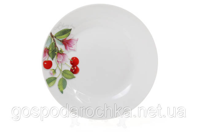 """Тарелка десертная фарфоровая 19см """"Вишня"""", фото 2"""
