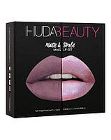 Уценка Набор из 4 мини-помад Huda Beauty Matte and Strobe Medusa Set - примятая упаковка