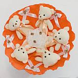 Букет из игрушек Мишки 5 оранжевый 5345IT, фото 2
