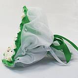 Букет из игрушек Мишки 9 изумрудный 5352IT, фото 2
