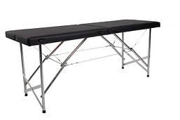 """Массажный стол кушетка """"Стандарт"""" Складной для косметологических и массажных процедур Черный"""